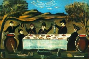 Niko Pirosmani (1862-1918) - Petrecere pe cimp