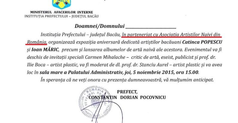 invitatie expo Bacau
