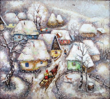 Nicolae Patru - Iarna pe ulita satului