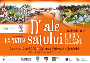 afis expo Lucica Ciobanu, Biblioteca Nationala